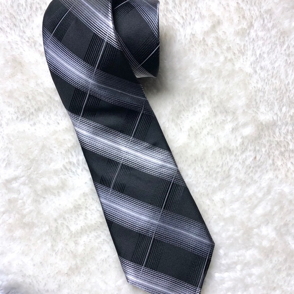 Michael Kors Other - Michael Kors | Black Grey Plaid Tie